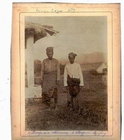 Raja Adonara Kamba Begu bersama Sultan Lampung (1889)