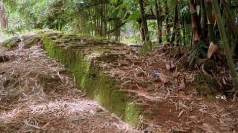 Benteng Sanrobone, dibangun pada tahun 1515-1520. Luas Benteng Sanrobone 25.54 Ha dengan ukuran sisi barat sepanjang 573 m, sisi selatan 529 m, sisi timur 748 m dan sisi utara 332 m. Benteng ini terbuat dari batu bata dan berbentuk perahu dengan panjang sekitar 3,7 km dan mempunyai 7 pintu yaitu 4 pintu besar searah dengan mata angin dan 3 pintu kecil. Foto 19 Pebruari 2012. Nampak di ujung benteng, sebuah pohon besar yang disebut