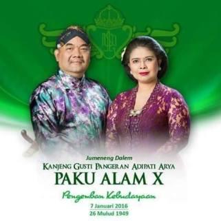Derek Mangayu Bagyo Jumenengipun Kanjeng Gusti Pangeran Adipati Aryo Paku Alam X.