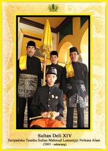 Zittend de Sultan van Deli, Tengku Hamdy Usman Deli Khan