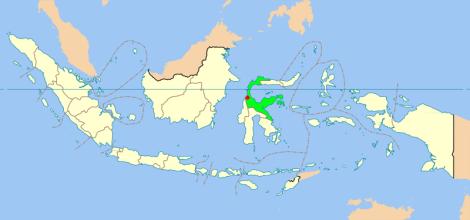Lokasi Palu (merah)