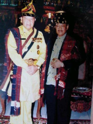 Sri Paduka KGPAA Paku Alam IX Al Haj bersama almarhun Tuanku Baharuddin Harahap di Tapanuli Selatan 2014