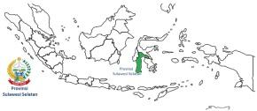 Provinsi Sulawesi Selatan (hijau)