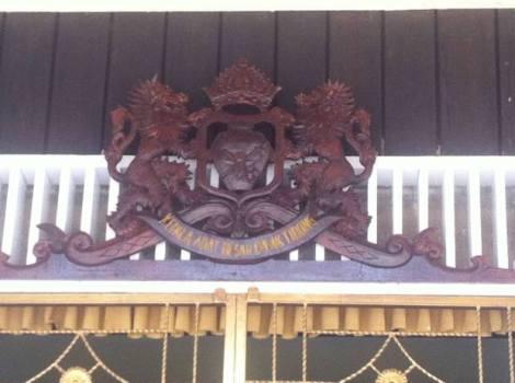 Rumah Baloy, Rumah adat Kerajaan Tidung. Lambang Lembaga Adat Dayak Tidung