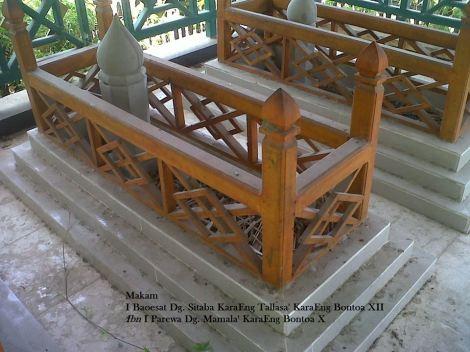 Bontoa. Makam I Baoesat Dg Sitaba Karaeng Tallasa' Karaeng Bontoa XII. Sumber foto: La Patau Matanna Tikka ( Raja Bone ke XVI (1696 – 1714), FB