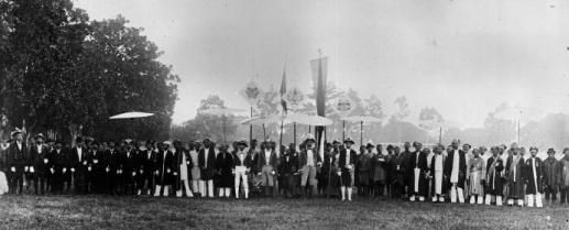 All 34 raja's, patih's and orang kaya of Ambon 1920.