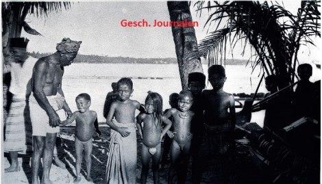 Potret Masyarakat Pesisir di Majene. Tahun - 1924. Sumber - Geschiedenis Journalen Nederland.