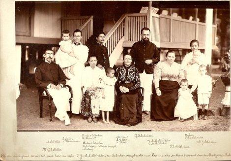 Keluarga Raja Sarapil (Raja Tabukan), Keluarga K.G.F. Steller dan Kel G.F Schroder (Penginjil Sangihe)