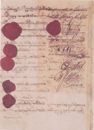 Naskah Perjanjian Giyanti 1755
