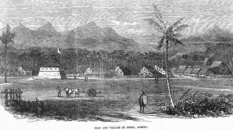 Suasana kampung Pedir di Pidie-Aceh