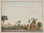Surabaya - ini lukisan 1722 dari pelukis belanda yang menggabrakn pintu masuk kerajaan Surabaya. data ini ini dari pusat dokumentasi Indonesia dan Karibia di Leiden Nederland