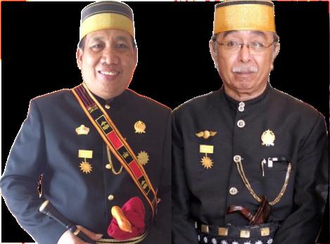 Ir. H. Sukwansyah A. Lomba MSi. Kr. Nojeng M. Yunus Aidid SH. Kr. SIbali Pemangku Adat