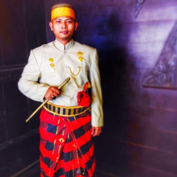 Binamu, Sulawesi - Prince Ilham Banjay Djalal Mattewakang; son of King of Binamu, who died 11-7-2014.