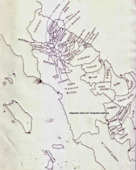 Kerajaan-kerajaan wilayah prov. Sumatera Utara sekarang. Abad ke-19