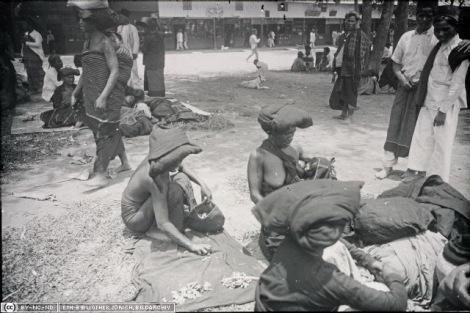 Suku Batak Karo. Pasar di Kabanjahe (Urung dari Sibayak Lingga)