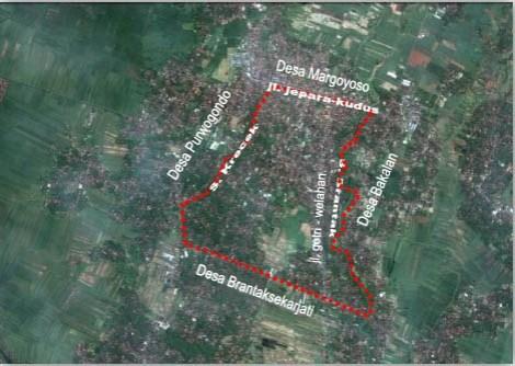 Peta Letak Benteng Kerajaan Kalinyamat. Benteng Kalinyamat terdapat di daerah Kecamatan Kalinyamatan tepatnya berada di Desa Robayan, Desa Bakalan, Desa Kriyan, Desa Margoyoso.