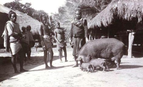 Raja Laramessa dari Kerajaan Kambera di Sumba sekitar tahun 1912. Foto ini diambil dari koleksi G.S. Vrijburg, dan H.M. Hogestijn-Vrijburg. Sumber- KILTV Leiden.)