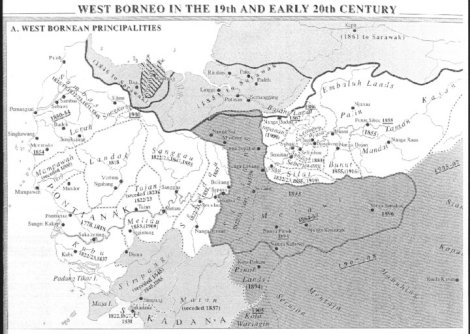 Keraajaan di Kalimantan barat, abad ke-19 dan awal abad ke-20