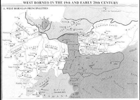 Kerajaan di Kalimantan barat, abad ke-19 dan awal abad ke-20