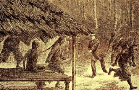 Serangan KNIL ke markas Sam Cam Fui yang dipimpin Gustave Marie Verspijck.