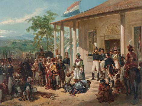 Lukisan Peristiwa Penangkapan Pangeran Diponegoro oleh Nicolaas Pieneman
