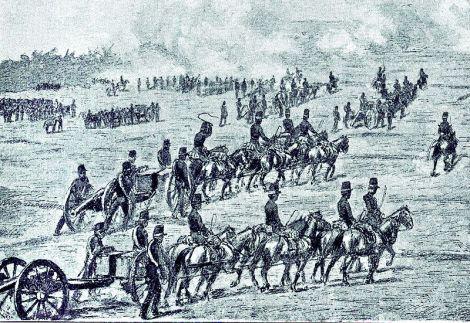 Artileri Belanda di Jagaraga.