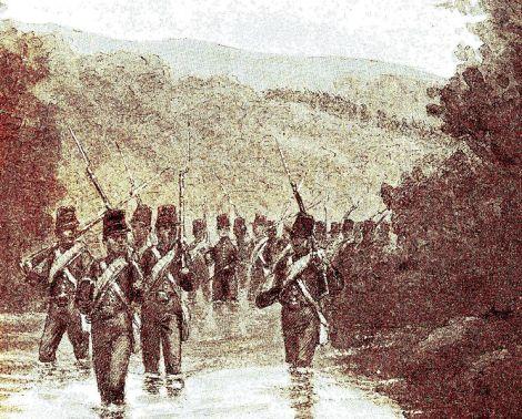 Barisan Batalyon VII di Sangsit.
