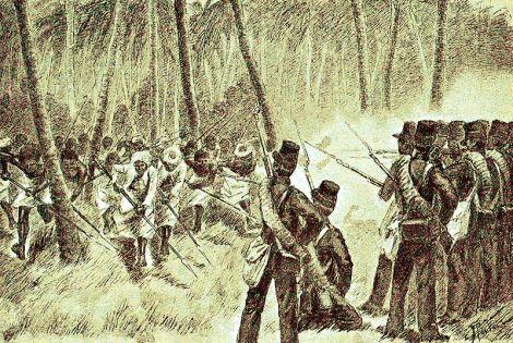 Serangan pasukan Bali di Kusamba.