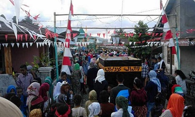 Tradisi mengarak hewan Qurban keliling desa di Negeri (Desa) Hualoy, Kecamatan Amalatu, Kabupaten Seram Bagian Barat