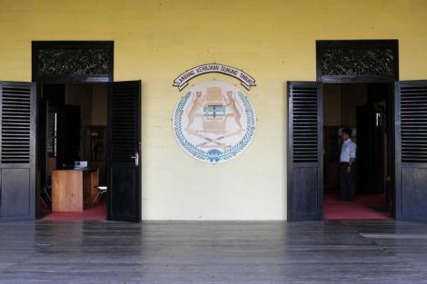 Museum Batiwakkal, Gunung TaburPintu masuk istana gunung tabur, tanjung redeb, berau