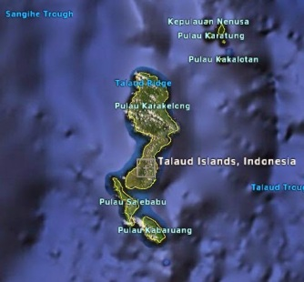 Pulau Karakelang, pulau Salebabu dan pulau Kabaruan