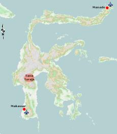 Lokasi Tana Toraja