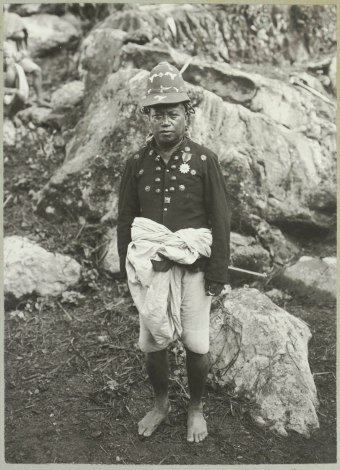 Portret van Puang Tarongkong, de vorst van Makale