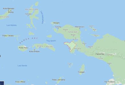 Lokasi kabupaten Fak Fak