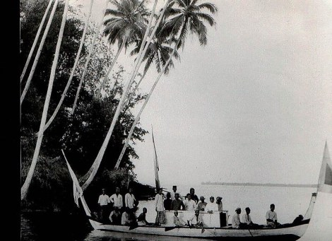 papua Waigama, Papua - Kerajaan Waigama. Kapal raja dari Waigama, 1924